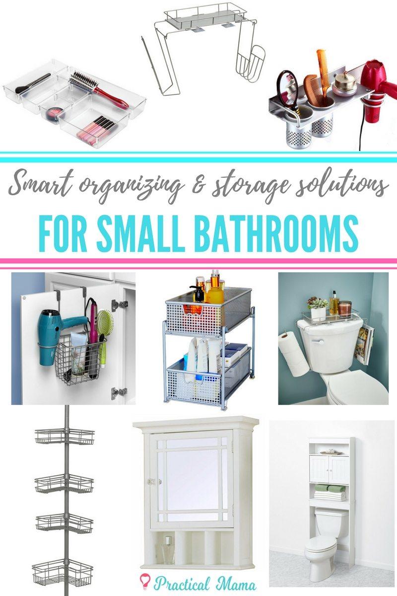 Organization ideas for small bathrooms - Home organization ideas