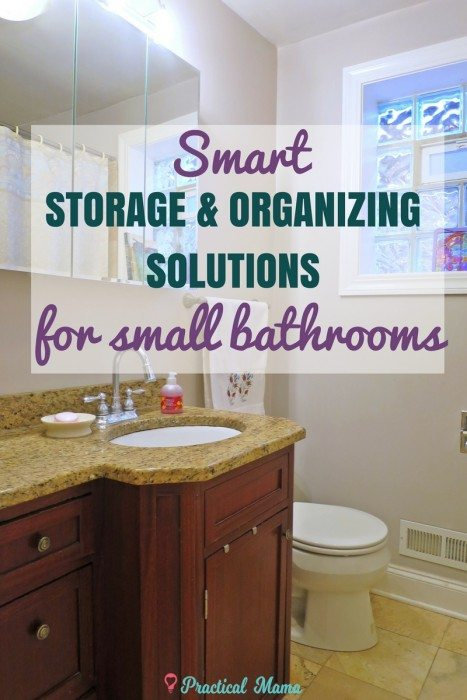 Smart storage and organization ideas for your small bathroom to make the most of the space including the cabinet under the sink, over the toilet and in the shower. These practical solutions will help keep your bathroom organized and free of clutter