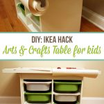 DIY Arts & Crafts Table for Kids – IKEA Hack