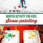 Winter Activity for kids: Snow painting