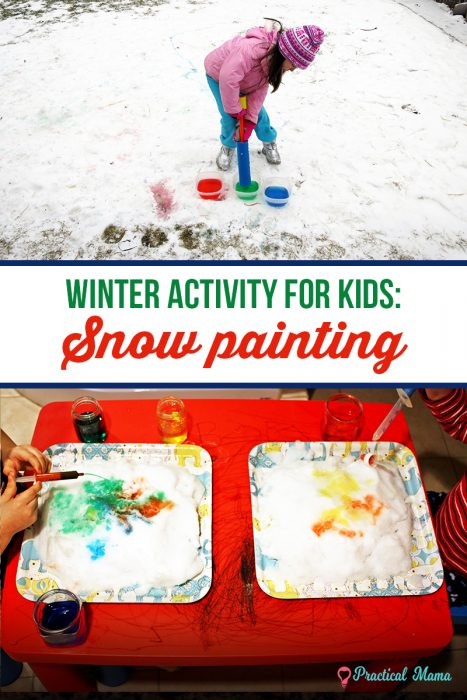 colorful snow activity for kids