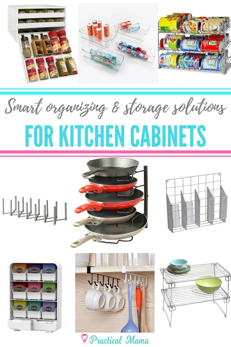 Smart organization and storage ideas for kitchen cabinets