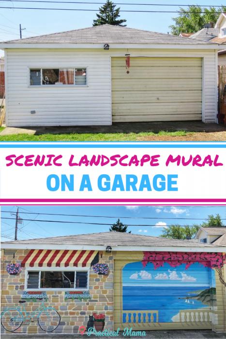 Painting Scenic Landscape Garage Mural