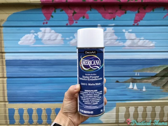 Acrylic finishing spray
