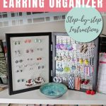 DIY Earring holder that organizes studs and dangles